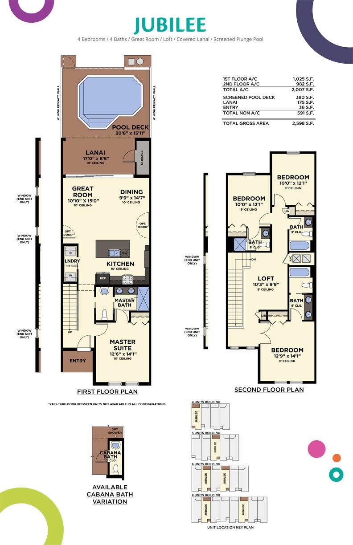 Festival Jubilee Floor Plan, Festival, Minto Resorts Davenport, Florida, USA
